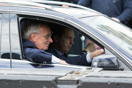Peter Bone drives into the Houses of Parliament