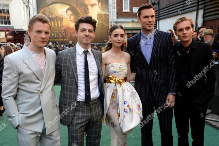 Patrick Gibson, Anthony Boyle, Lily Collins, Nicholas Hoult and Tom Glynn-Carney