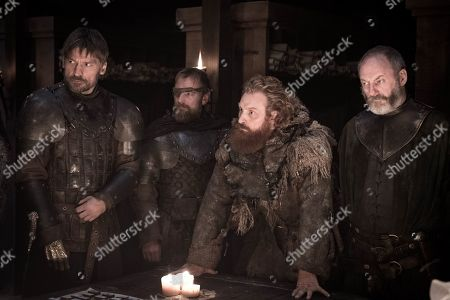 Nikolaj Coster-Waldau as Jaime Lannister, Richard Dormer as Beric Dondarrion, Kristofer Hivju as Tormund Giantsbane and Liam Cunningham as Davos Seaworth
