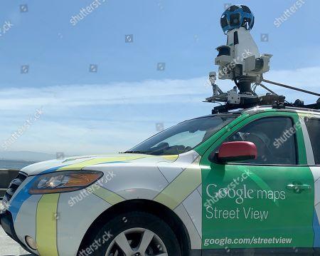 Editorial image of Google Street View car on the San Mateo Bridge, USA - 26 Apr 2019