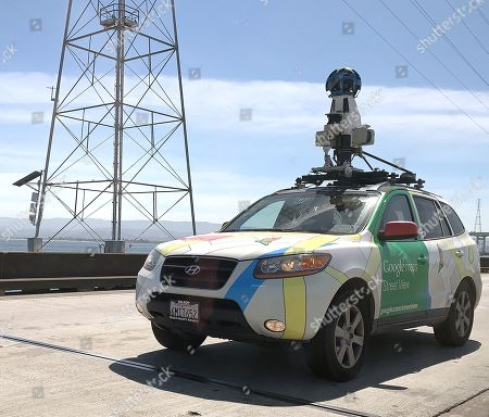 Editorial picture of Google Street View car on the San Mateo Bridge, USA - 26 Apr 2019