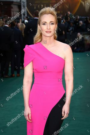 Genevieve O'Reilly poses for photographers upon arrival at the 'Tolkien' premiere in London