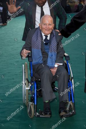 Sir Ian Holm. Actor Ian Holm poses for photographers upon his arrival at the 'Tolkien' premiere in London