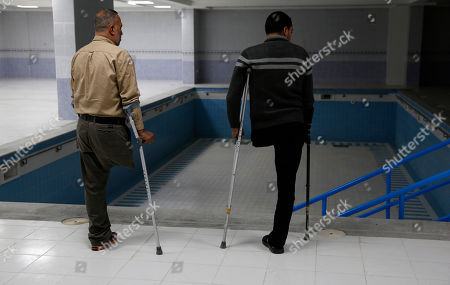 Palestinian amputees visit H. H. Sheikh Hamad bin Khalifa Al Thani Hospital for Rehabilitation and Artificial Limbs in Gaza City, . Qatar built the hospital after its then-emir visited Gaza in 2012, but a lack of qualified staff and funding prevented Hamas from operating the center