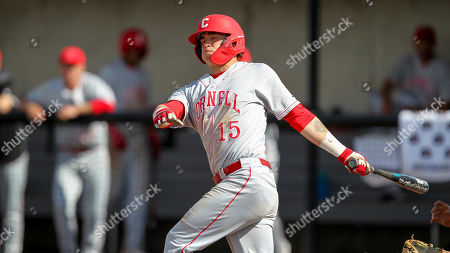 Stock Image of Cornell's Matt Collins at bat during an NCAA college baseball game against Harvard, in Boston