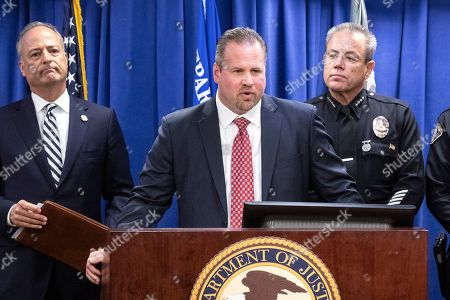 Editorial photo of Domestic Terrorism countered press conference in Los Angeles, USA - 29 Apr 2019