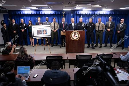 Editorial picture of Domestic Terrorism countered press conference in Los Angeles, USA - 29 Apr 2019