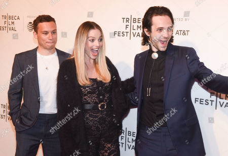 Finn Cole, Margot Robbie and Miles Joris-Peyrafitte