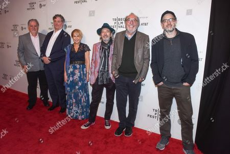 Stock Picture of Matt Groening, Al Jean, Yeardley Smith, Harry Shearer, James L Brooks and Matt Selman