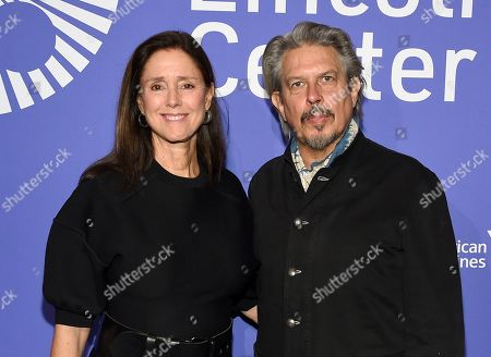 Stock Photo of Julie Taymor, Elliot Goldenthal. Director Julie Taymor, left, and husband Elliot Goldenthal attend the Film Society of Lincoln Center's 50th anniversary gala at Alice Tully Hall, in New York
