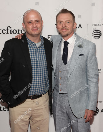 Stock Image of Executive Producer Eric Kripke and Simon Pegg