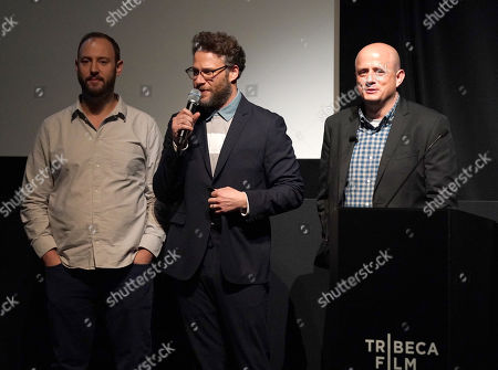 Stock Picture of Executive Producers Evan Goldberg, Seth Rogen and Eric Kripke