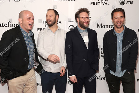 Stock Photo of Executive Producers Eric Kripke, Evan Goldberg, Seth Rogen and James Weaver