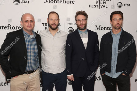 Stock Picture of Executive Producers Eric Kripke, Evan Goldberg, Seth Rogen and James Weaver