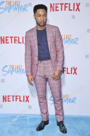 """Jacob Lattimore attends the LA premiere of """"The Last Summer"""" at TCL Chinese Theatre, in Los Angeles"""