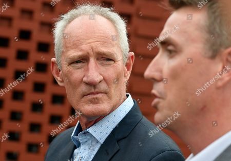 One Nation party officials Steve Dickson (left)  and James Ashby field questions during a press conference in Brisbane, Tuesday, March 26, 2019. The pair have been caught  in an al-Jazeera investigation which used hidden cameras and a journalist posing as a grassroots gun campaigner to expose the far-right partyÕs extraordinary efforts to secure funding in Washington DC in September.(AAP Image/Dave Hunt) NO ARCHIVING, EDITORIAL USE ONLY