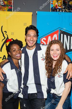 Marsha Stephanie Blake, Carlos Miranda and Haley Finnegan.