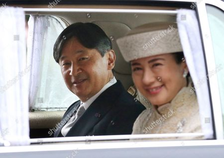 Japan's Crown Prince Naruhito and Crown Princess Masako arrive at Imperial Palace to attend the ceremony of Emperor Akihito's abdication in Tokyo, . Japan's Emperor Akihito says he is abdicating as of Tuesday at a ceremony, in his final official address to his people