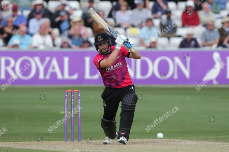 Luke Wright in batting action for Sussex during Essex Eagles vs Sussex Sharks, Royal London One-Day Cup Cricket at The Cloudfm County Ground on 30th April 2019