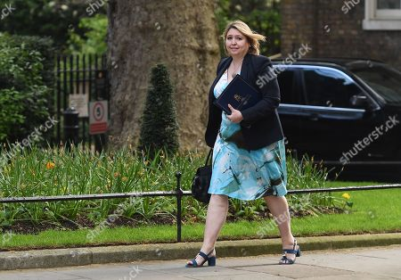 British Secretary of State for Northern Ireland Karen Bradley arrives at Downing Street for a Cabinet meeting in London, Britain, 30 April 2019.