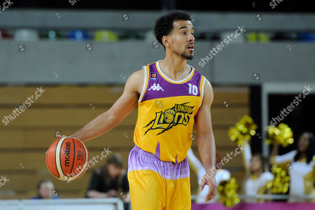 Justin Robinson of London Lions in action during the Benecos British Basketball League Playoffs Quarter-Finals match between London Lions and Plymouth Raiders at the Copper Box Arena in London, UK - 6th May 2019