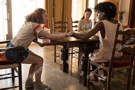 Tallulah Haddon as Leila/Shadowfax, Haruka Abe as Tomiko/Tippi and Simona Brown as Tess/Mania
