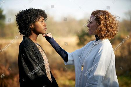 Simona Brown as Tess/Mania and Geraldine Somerville as Ruth Palmer