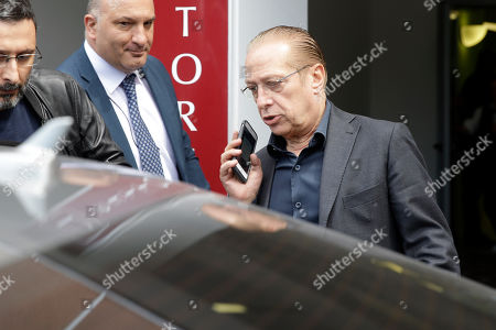Paolo Berlusconi, brother of former Italian Premier Silvio Berlusconi, leaves Milan's San Raffaele hospital, . Former Italian Premier Silvio Berlusconi is in the hospital suffering from renal colic on the day he planned to present his candidates for European Parliament elections