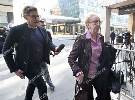 Dame Margaret Beckett, Labour Member of Paliament (R) as she arrives for a meeting of Labour's national executive committee (NEC) to agree its draft European election manifesto in central London, Britain, 30 April 2019. Reports state that the NEC will discuss whether to call for a second public vote on Brexit as part of its European election manifesto.