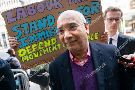 Stock Picture of Labour Party MP Keith Vaz arrives at Labour Party headquarters for National Executive Meeting at which Labour's position on a second EU vote will be decided.