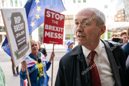 Richard Corbett MEP arrives at Labour Party headquarters for National Executive Meeting at which Labour's position on a second EU vote will be decided.
