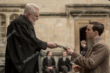 Sir Derek Jacobi and Nicholas Hoult as J.R.R. Tolkien