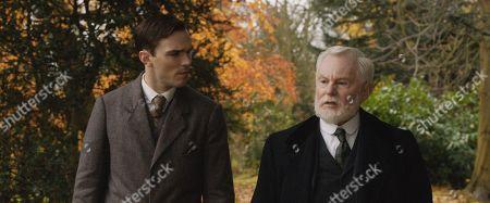 Nicholas Hoult as J.R.R. Tolkien and Sir Derek Jacobi