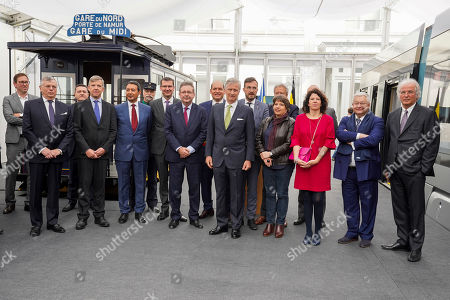 Editorial image of 150 years of the Tram and discovery of the future trams, Brussels, Belgium  - 30 Apr 2019