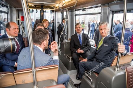 Editorial photo of 150 Years of the Tram and Discovery of the Future Trams, Brussels, Belgium  - 30 Apr 2019