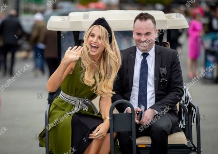 Stock Photo of Vogue Williams arrives in Punchestown