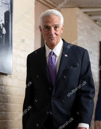 Democratic Representative Charlie Crist of Florida arrives for a House Democratic Caucus meeting at the Capitol in Washington, DC, USA, 30 April 2019.