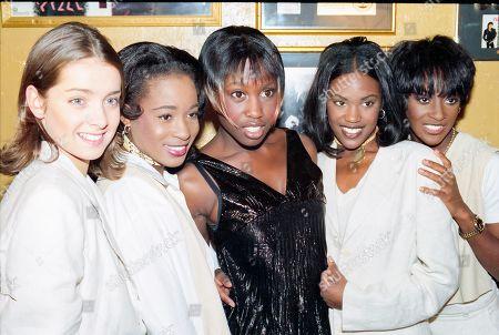 Eternal - Louise Redknapp, Vernie Bennett, Michelle Gayle, Eternal - Kelle Bryan Easther Bennett attend The BRIT Awards Launch 1995