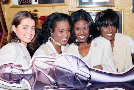 Eternal - Louise Redknapp, Vernie Bennett, Kelle Bryan Easther Bennett attend The BRIT Awards Launch 1995