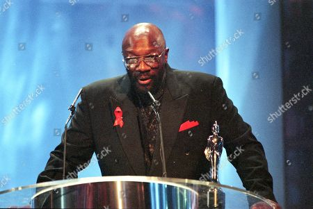 Curtis Mayfield attends The BRIT Awards 1995