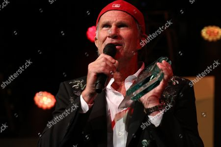 Chad Smith on stage to present the MITS Awards 2018