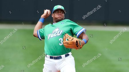 Stock Picture of Florida Gulf Coast's Jay Hayes (30) makes a throw during a Florida Gulf Coast at Kennesaw State baseball game, in Kennesaw, Ga