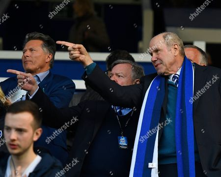 Portsmouth Owner Michael Eisner right during Portsmouth vs Peterborough United, Sky Bet EFL League 1 Football at Fratton Park on 30th April 2019