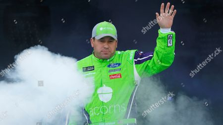 Ryan Newman waves to fans during driver introductions prior to the start of the NASCAR Cup series auto race at Richmond Raceway in Richmond, Va