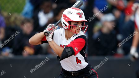 Stock Image of Youngstown State's Alex DeLeon bats against Wright State during an NCAA softball game on in Youngstown, Ohio