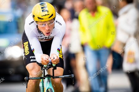 Tony Martin from Germany of team Jumbo-Visma in action during the prologue, a 3,87 km race against the clock at the 73th Tour de Romandie UCI ProTour cycling race in Neuchatel, Switzerland, Tuesday, April 30, 2019.