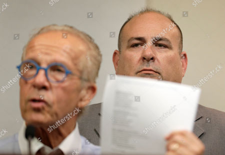 Richard Halvorson, Jeff Anderson. While Richard Halvorson, right, listens, attorney Jeff Anderson speaks during a news conference in Newark, N.J., . Halvorson is alleging sexual abuse in a lawsuit filed against the Boy Scouts of America