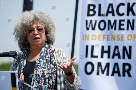 Activist and scholar Angela Davis participates in a rally held in support of US  Democratic Congresswoman from Minnesota Ilhan Omar and calling for congress to censure President Trump at Union Square near the US Capitol in Washington, DC, USA, 30 April 2019. On April 12th US President Donald J. Trump's tweet about Representative Omar resulted in a wave of death threats against her.