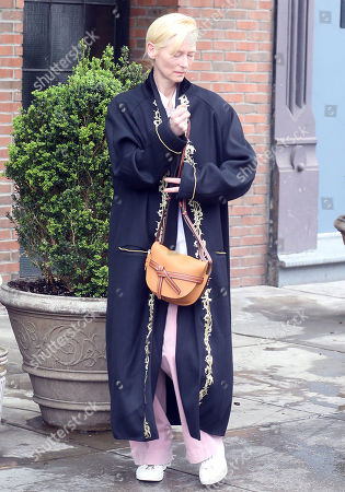 Editorial image of Tilda Swinton and Sandro Kopp, out and about, New Yorkm USA - 30 Apr 2019