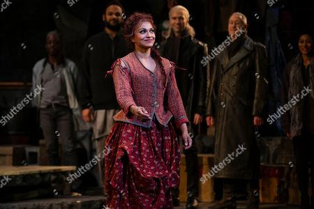 Danielle De Niese (Aldonza/Dulcinea) during the curtain call